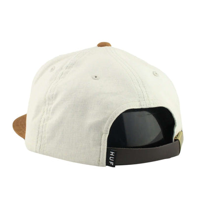 HUF HUF Small Metal H Cream/Brown Suede Strapback