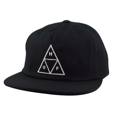 HUF Huf Triple Triangle Black/Black Unstructured Snapback