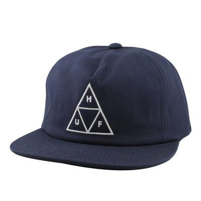 HUF Huf Triple Triangle Navy/Navy Unstructured Snapback