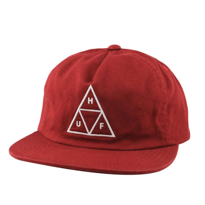 HUF HUF Triple Triangle Unstructured Burgundy/Burgundy Snapback