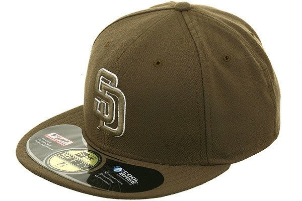 San Diego Padres Alternate Olive/Olive Fitted - Bespoke Cut and Sew