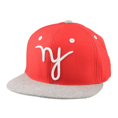 In4mation in4mation NY Sham Red/Gray Snapback