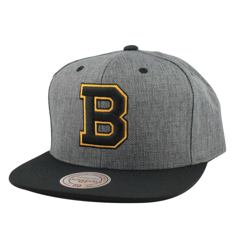 Mitchell and Ness Boston Bruins Cation 2T Gray Black Snapback 492516ad256