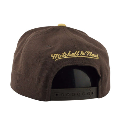 Mitchell and Ness Brooklyn Nets Acrylic Crown Infrared Brown/Tan Snapback