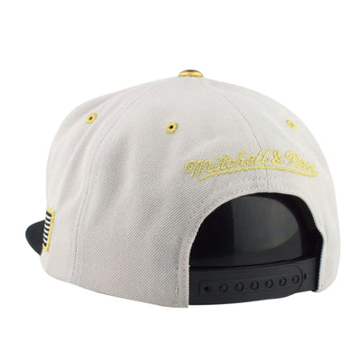 Mitchell and Ness Brooklyn Nets Gold Tip Gray/Black Snapback
