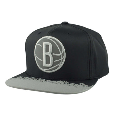 Mitchell and Ness Brooklyn Nets Reflective Lava Black/Gray Snapback