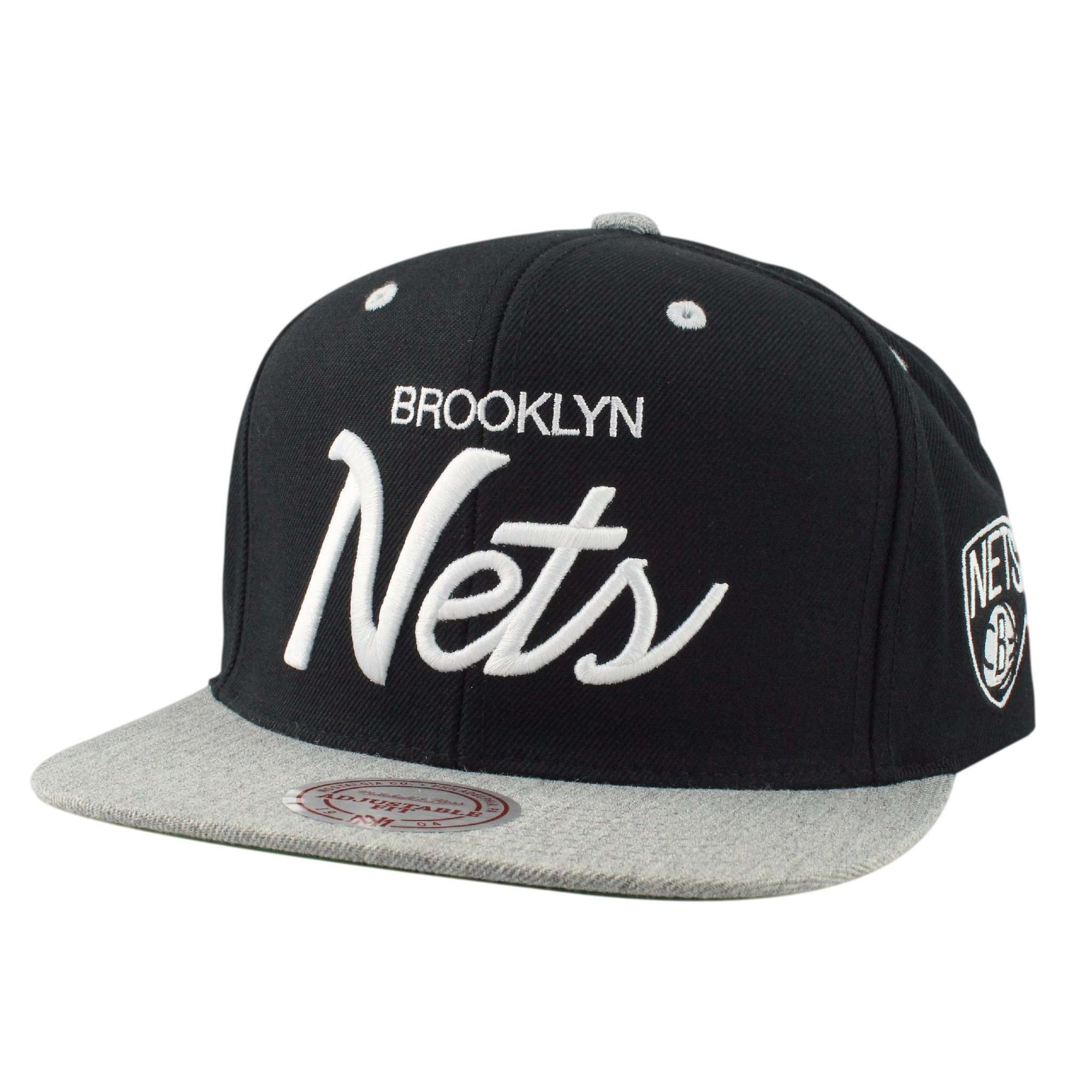 finest selection 36936 426a3 ... best price mitchell and ness brooklyn nets special script black gray  snapback a520d 8cbba ...