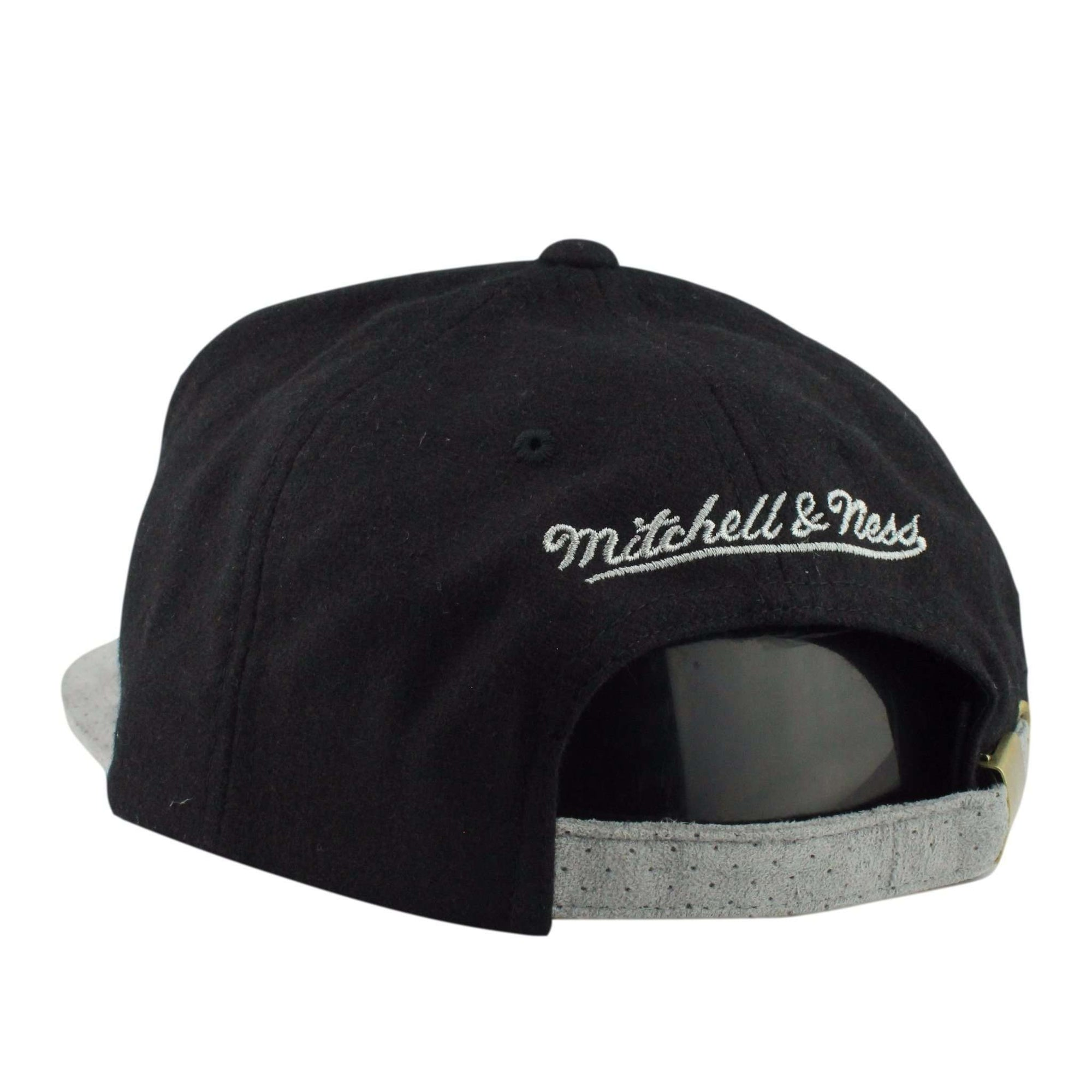 dada972b937 Mitchell and ness brooklyn nets winter suede perf black gray strapback jpg  2000x2000 Nets winter hat