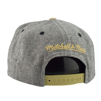 Mitchell and Ness Chicago Blackhawks Denim Butter Soft Gray/Tan Snapback