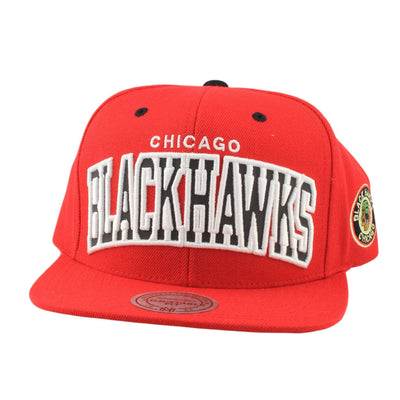 Mitchell and Ness Chicago Blackhawks Reflective Arch Red/Red Snapback