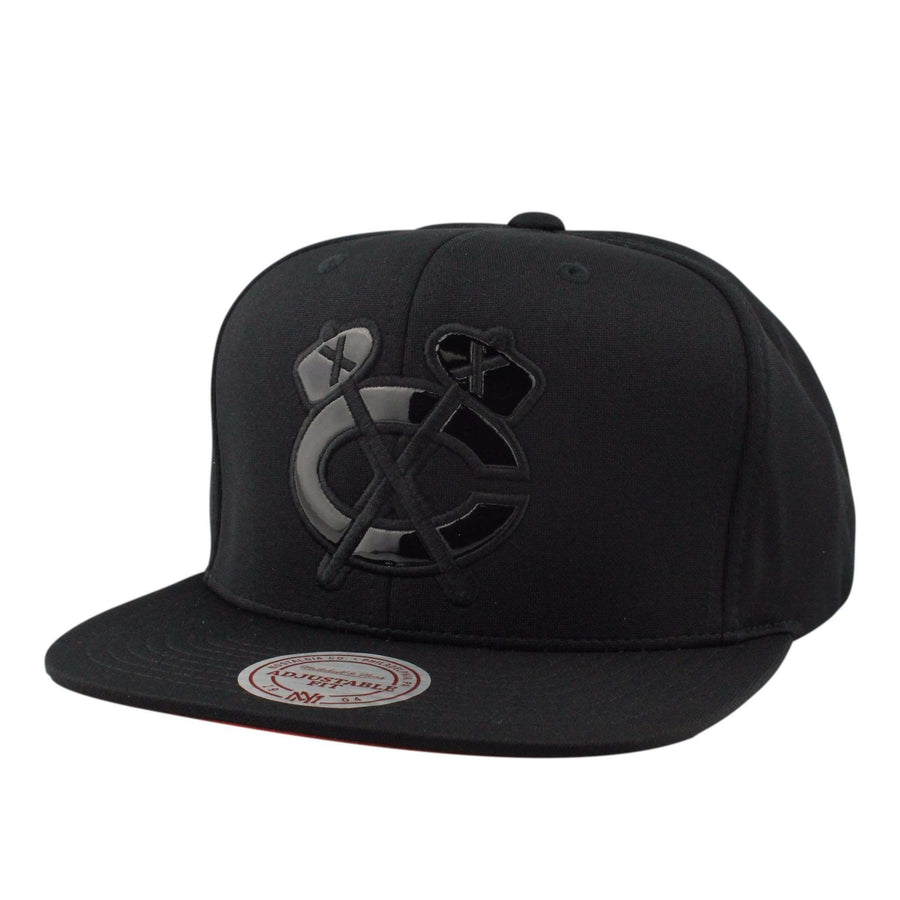 newest 1414e fcaf3 Mitchell and Ness Chicago Blackhawks The Domain Black Black Snapback