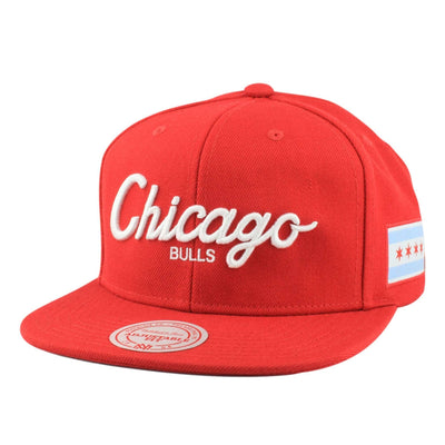 Mitchell and Ness Chicago Bulls City First Red/Red Snapback
