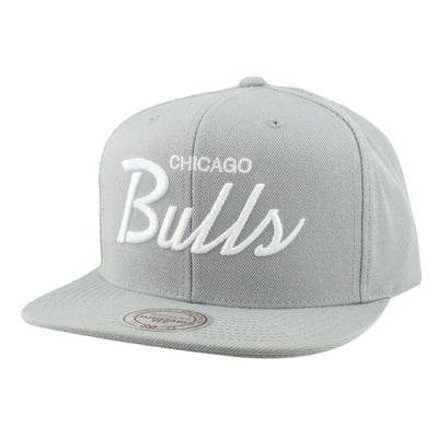 Mitchell and Ness Chicago Bulls Custom Basics Gray/Gray Snapback