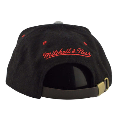 Mitchell and Ness Chicago Bulls Heather Melton Visor Black/Gray Strapback