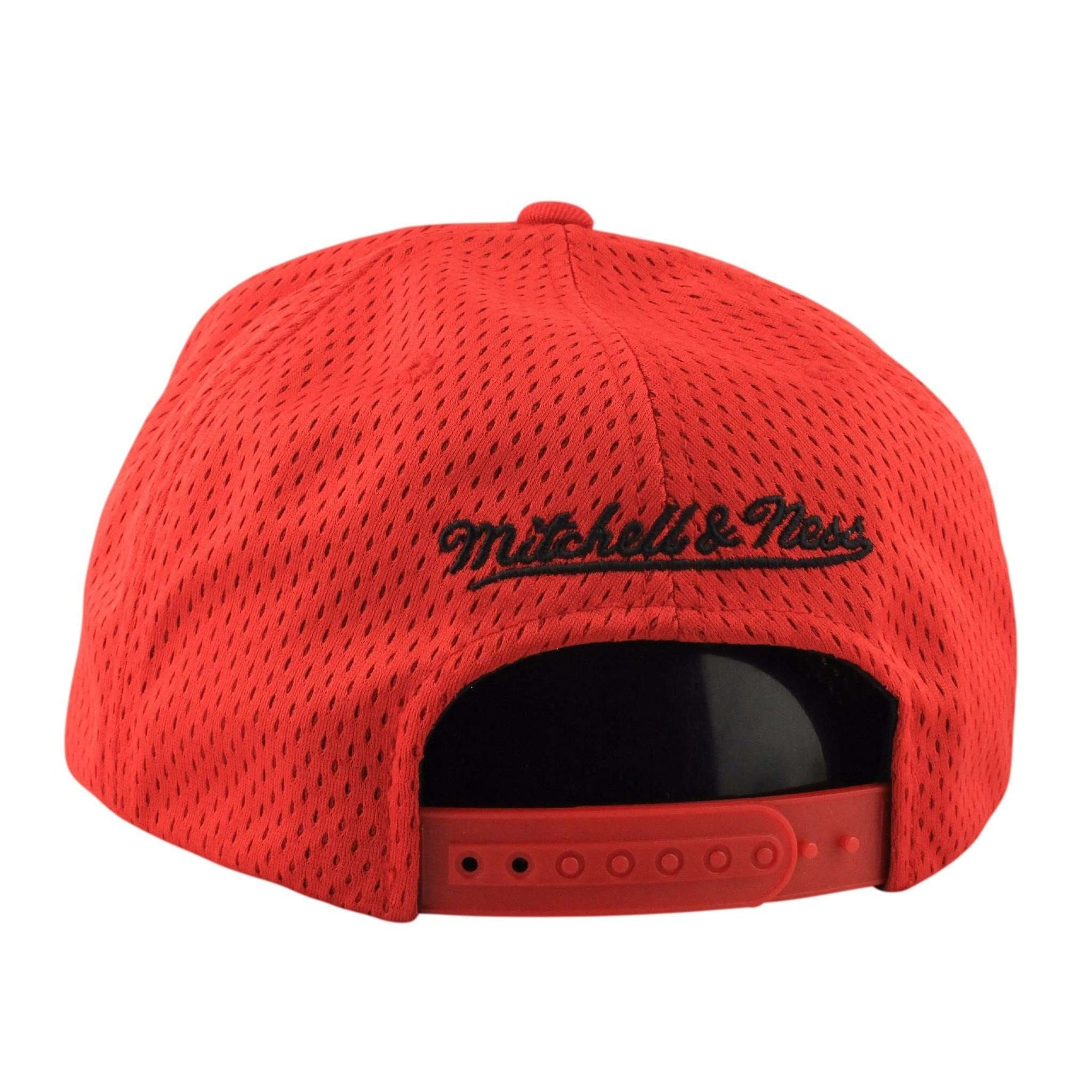 c9c33253b ... reduced mitchell and ness chicago bulls jersey mesh red red snapback  50afe a365a