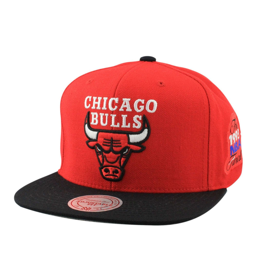 5cda9d7b02f12 Mitchell and Ness Chicago Bulls Logo The Finals 1993 Red Black Snapback