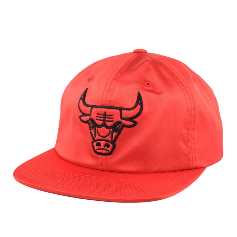316e75cd6bc Mitchell and Ness Chicago Bulls Satin Red Red Snapback
