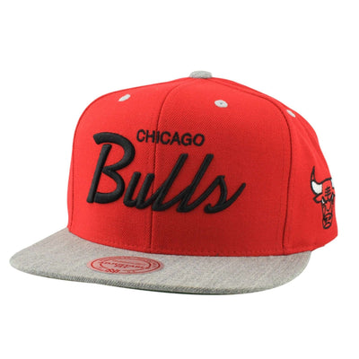 Mitchell and Ness Chicago Bulls Special Script Red/Gray Snapback
