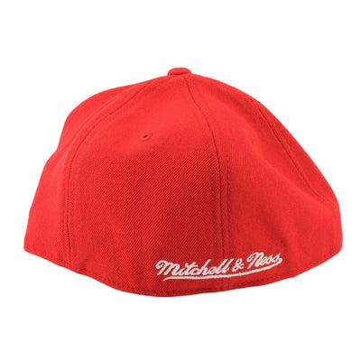 Mitchell and Ness Chicago Bulls Team Solid Red/Red Fitted