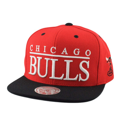 Mitchell and Ness Chicago Bulls Top Shelf Red/Black Snapback
