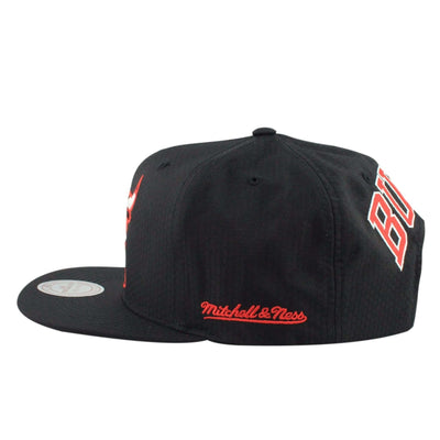 Mitchell and Ness Chicago Bulls Windy City Black Ripstop Honey Black/Black Snapback