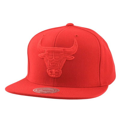 Mitchell and Ness Chicago Bulls Wool Solid Red/Red Snapback
