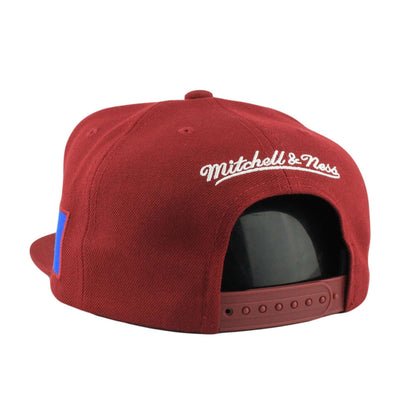 Mitchell and Ness Cleveland Cavaliers City First Burgundy/Burgundy Snapback