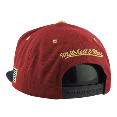 Mitchell and Ness Cleveland Cavaliers Gold Tip Maroon/Black Snapback