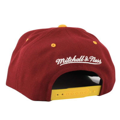Mitchell and Ness Cleveland Cavaliers Grand Arch Maroon/Yellow Snapback
