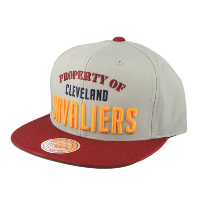 Mitchell and Ness Cleveland Cavaliers Property Gray/Maroon Zipperback
