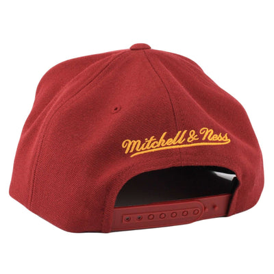 Mitchell and Ness Cleveland Cavaliers Sword Logo Maroon/Maroon Snapback