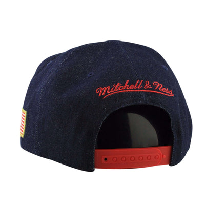 Mitchell and Ness Cleveland Cavaliers The USA Denim Stripe Denim/Denim Snapback