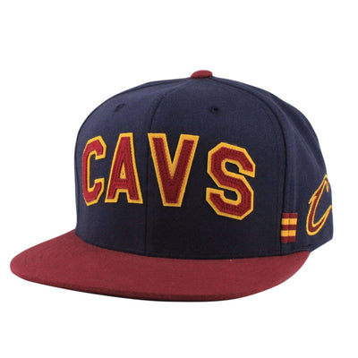 Mitchell and Ness Cleveland Cavaliers Training Room Navy/Maroon Snapback