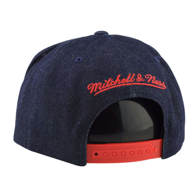 Mitchell and Ness Detroit Red Wings The USA Denim Stripe Denim/Denim Snapback