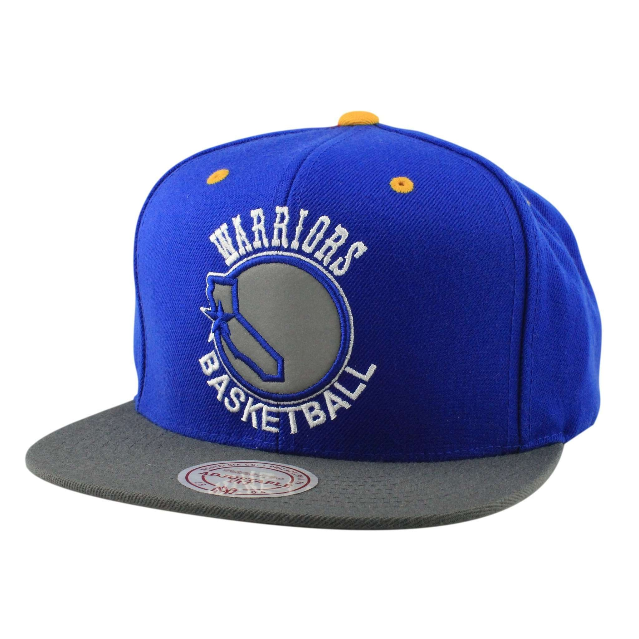 first rate 63c25 587cc Golden State Warriors 3M XL Logo Blue Gray Snapback
