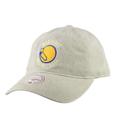 Mitchell and Ness Golden State Warriors Blast Wash HWC Tan/Tan Slouch Strapback