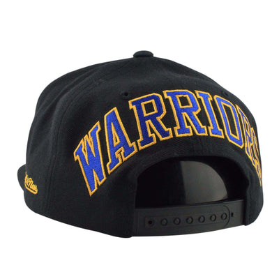 Mitchell and Ness Golden State Warriors Blockback Black/Black Snapback