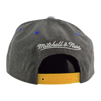Mitchell and Ness Golden State Warriors Cation Perforated Suede Gray/Gray Snapback