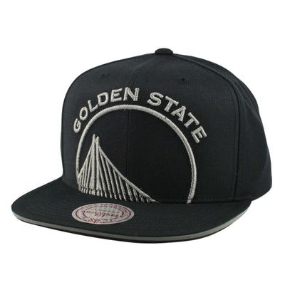 Mitchell and Ness Golden State Warriors Cropped Metallic Black/Black Snapback
