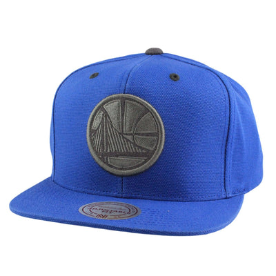 Mitchell and Ness Golden State Warriors Gray Tonal Blue/Blue Snapback