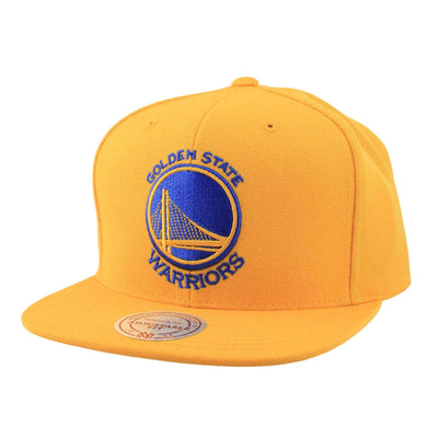 Mitchell and Ness Golden State Warriors Logo Yellow/Yellow Snapback