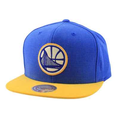 Mitchell and Ness Golden State Warriors Sandy Off White Blue/Yellow Snapback