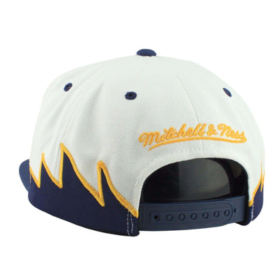 Mitchell and Ness Golden State Warriors Sharktooth White/Navy Snapback