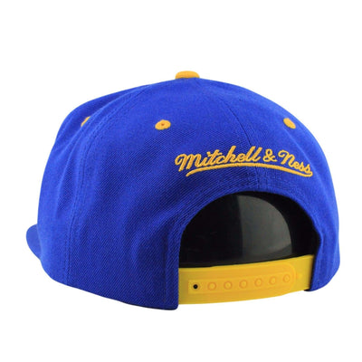 Mitchell and Ness Golden State Warriors Split Script Blue/Blue Snapback