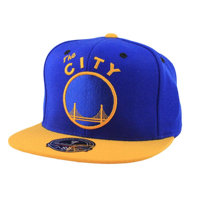 Mitchell and Ness Golden State Warriors The City Blue/Yellow Fitted