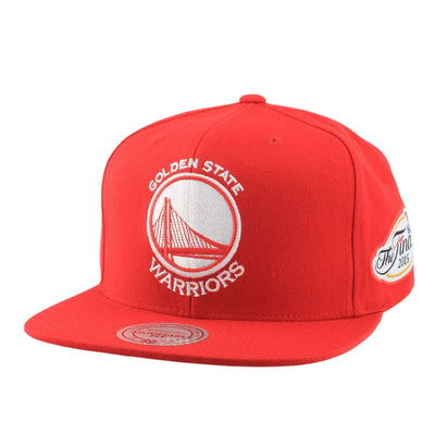 Mitchell and Ness Golden State Warriors The Finals 2015 Red/Red Snapback