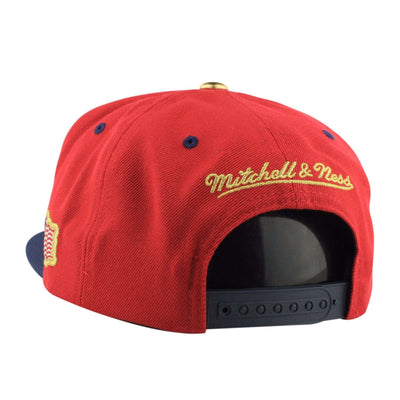 Mitchell and Ness Golden State Warriors USA 2T ALT Red/Navy Snapback