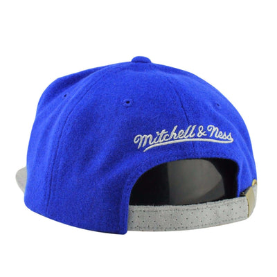 Mitchell and Ness Golden State Warriors Winter Suede Perf. Blue/Gray Strapback