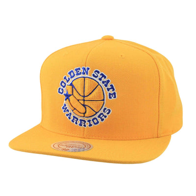Mitchell and Ness Golden State Warriors Wool Logo Yellow/Yellow Snapback