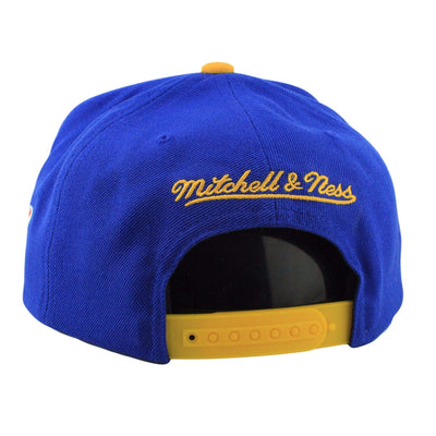 Mitchell and Ness Golden State Warriors XL Logo Blue/Yellow Snapback